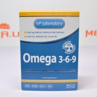 Omega 3-6-9 Fish Oil, Borage Oil, Olive Oil 60 капс