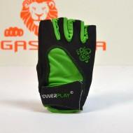 Перчатки для фитнеса 1728 зеленые женские