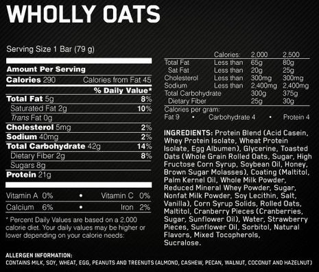 Wholly Oats! 21G Protein 79 грамм